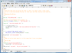 PHPエディタイメージ